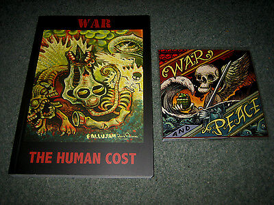 Signed: War The Human Cost Comix Gn Book +Peace Cd Big Youth Dub Spain Rodriguez