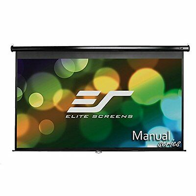 Elite Screens Manual, 92-inch 16:9, Pull Down Projection Man