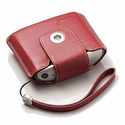 TomTom Leather Carry Case and Strap for TomTom One v2 (Red)