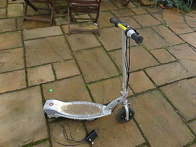 Razor E100 Electric Scooter in Silver with Charger