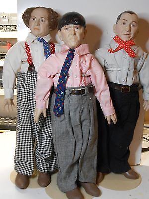 988 Three 3 Stooges, Hamilton Gifts Statues/ Figures/ Dolls, Moe, Larry, Curly