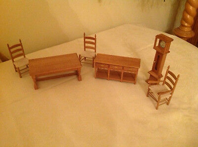 Dollshouse furniture pine dining set