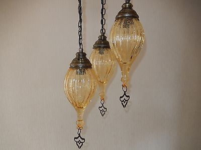 Turkish,Morrocan Chandelier 3 drops Blown Glass ceiling Lamps Hand Made