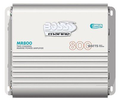 Boss MR800 2-Channel MOSFET Bridgeable Marine Power Amplifier With Remote S