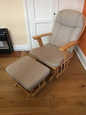 Nursing Chair With Matching Footstool