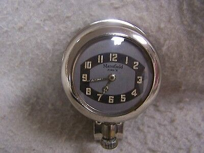Original Mansfield Slip On Automobile Clock For Ford Model A 1928-31 *working*