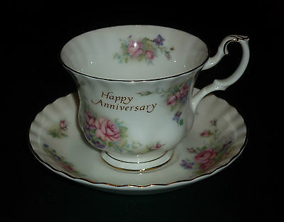 Royal Albert  Happy Anniversary   Cup And Saucer