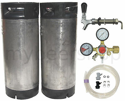 XPERT BALL LOCK KEG KIT with ENTRY LEVEL REGULATOR HOME BREW BEER SYSTEM KEGGING