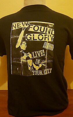 "VTG NEW FOUND GLORY ""Live In Your City"" mens medium black shirt concert punk tee"