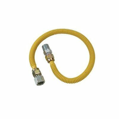 BrassCraft CSSD4K-12 ProCoated Stainless Steel Gas Connector with Ball Valv