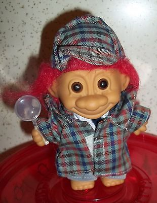 Detective / Sherlock Holmes 5  Inch Troll  Doll - Unplayed with