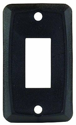 JR Products 12855 Black Single Face Plate