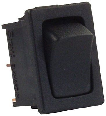 JR Products 12811-5 Black 12V Mini Momentary On/Off Switch