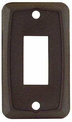 JR Products 12865 Brown Single Face Plate