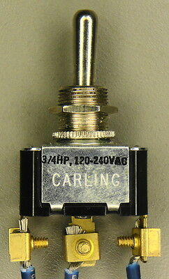 Carling ON-OFF-ON Momentary Toggle Switch 3/4HP 120-240VAC 10A-250V 15A-125V