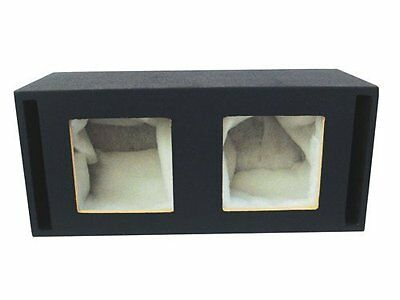 Absolute USA DKS12 Dual 12-Inch MDF Square-Hole Vented Enclo