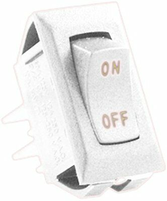 JR Products (12611-5) Ivory/Gold 12V On/Off Switch, (Pack of
