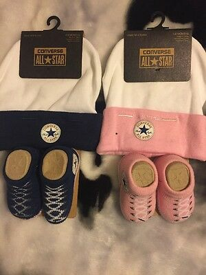 CONVERSE ALL STAR BABY GIRL & BOY HAT AND BOOTYS ACCESSORIES SET. REDUCED price!