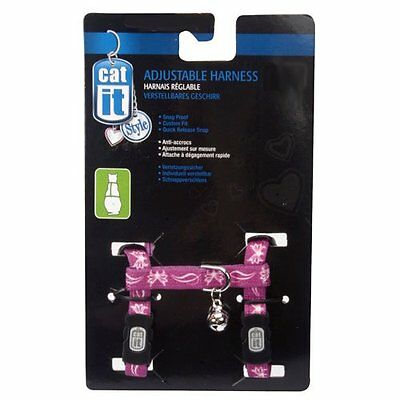 Catit Style Nylon Adjustable Cat Harness, Large, Butterfly