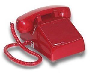 Viking No Dial Desk Phone - Red