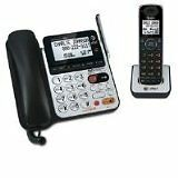 AT&T 84100 DECT 6.0 Corded/Cordless Phone, Black/Silver, 1 B