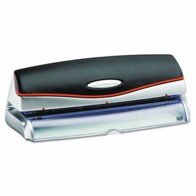 Swingline 74520 Optima 20-Sheet Capacity Electric Three-Hole Punch, Silver