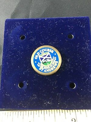 St Andrews Old Course Scotland Blue Golf Ball Marker With Back Peg