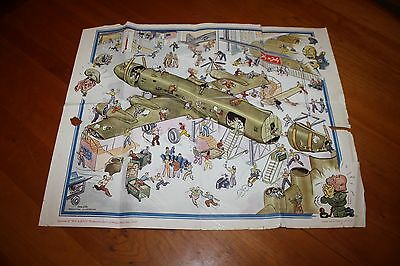 Douglas Aircraft FLY in JULY Poster Chicago July 1943 C-54A Skymaster Gene Ellis