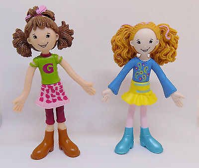 Groovy Girls Rhonda and Roslyn Bendable 4in. PVC Miniature Dolls Action Figures