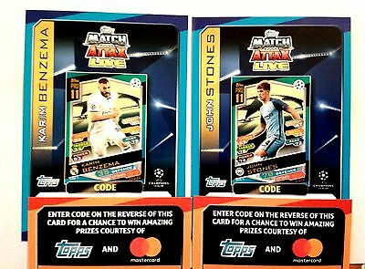 Match Attax Champions League 16/17 Code Cards - Add To Basket