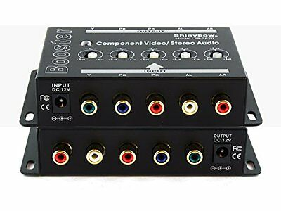 Component Video + Analog Audio Booster Extender Amplifier
