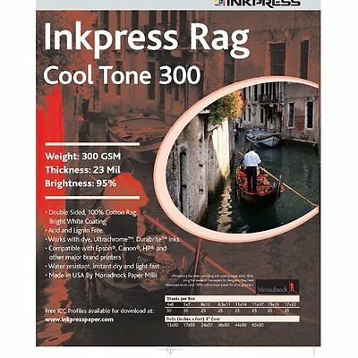 Inkpress PRCT3005750 Fine Art Rag Cool Tone 300 GSM 5in. X 7