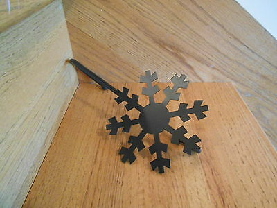 Longaberger Snowflake Stocking Holder Wrought Iron USA made new *free shipping!*