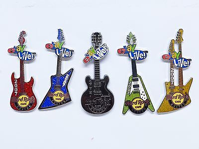 eBay Live 2007 Boston Set of 5 Hard Rock Guitar Pins New Only 300 Sets Made!