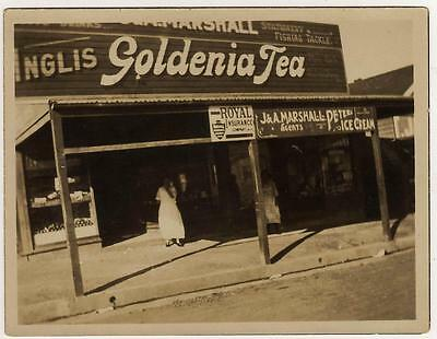 Vintage PHOTOGRAPH-PORT KEMBLA WENTWORTH ST, J&A Marshall General Store, c1920s