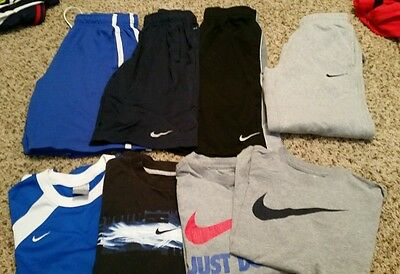 Nike Mixed Youth Boys 7 Piece Lot Size S/M/L gray sweats not included in lot