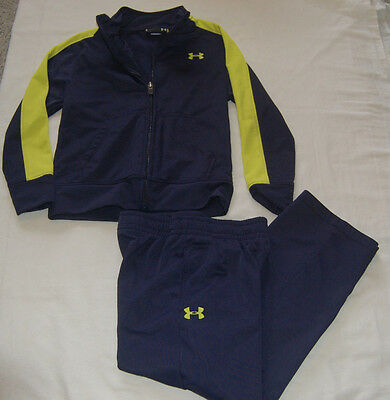 Boy's Size 5 Under Armour Green/Black Jacket & Long Pants Athletic Outfit