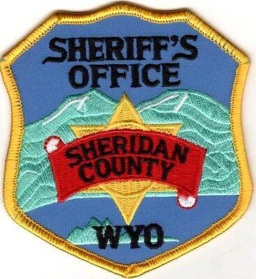 Sheridan County Sheriffs Office Police Patch Wyoming WY NEW