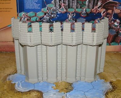 Castle Fortress Wall terrain Heroscape Arena of the Planeswalkers Dwarven Forge