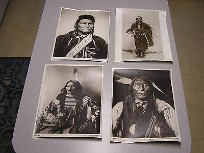VINTAGE PHOTO NATIVE AMERICAN INDIAN Lot of 4 Pictures Reprint 1969 Smithsonain