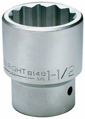 Wright Tool 8146 1-7/16-Inch with 1-Inch Drive 12 Point Standard Socket