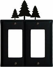 EGG-20 Pine Trees Double GFI Electric Cover