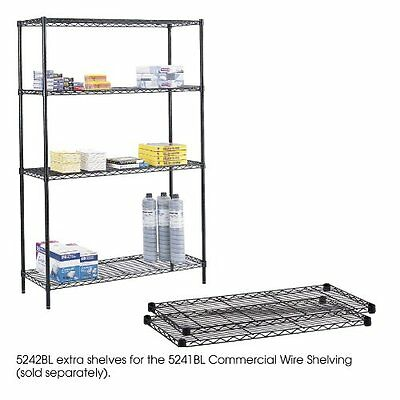 Safco 5242BL Black Commercial Extra Shelf Pack, 48 by 18-Inch