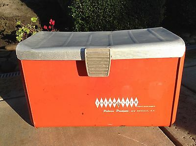 Vintage Thermaster Cooler Aluminum and Red