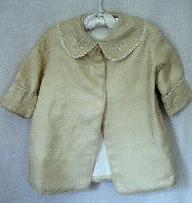 Vintage Handmade Antique baby's coat. Embroidered. Cotton lining. Christening.