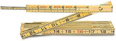 Lufkin 6 ft. Wood Rule Brass Extends Measuring Tools Rulers