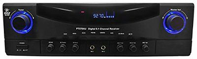 Pyle Home PT570AU 5.1-Channel 350 Watts AM/FM Radio with USB/SD Card and Am