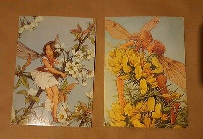2 Vintage Post Cards Cicely Mary Barker Flower Fairies 1975 Printed In Sweden