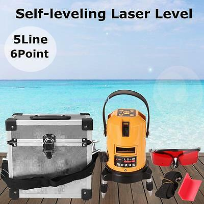 Self-Leveling Laser Level 5 Line 6 Point 360°Rotary Horizontal Vertical Red Beam