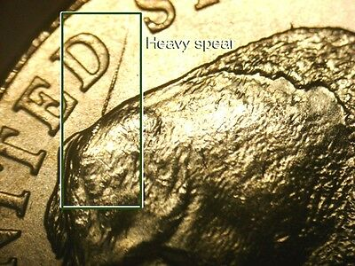 2- 2005 P rear speared Buffalo nickels Uncirculated coins